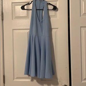 LuLus short light blue skater dress size small!